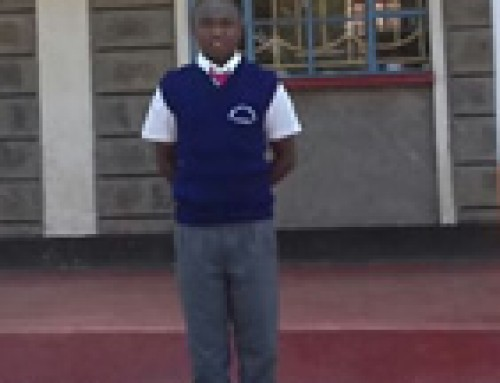 Peter Gitahi a Student in Goshen Boys High school form2.