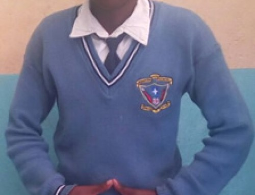 Joseph Ndung'u a student in Brightstar high school in Form 3.