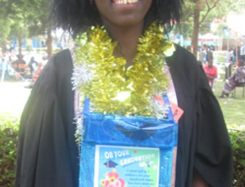 Lucy Nduta graduate from Kamwenja Teaching college with Certificate of primary Education.